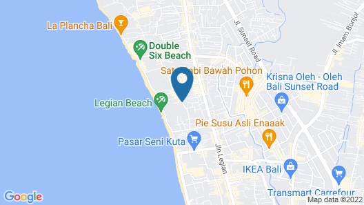 Bali Niksoma Boutique Beach Resort Map