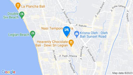 Grand Livio Kuta Hotel Map