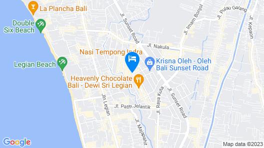 THE 1O1 Bali Fontana Seminyak Map