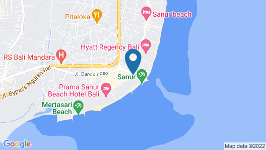 Fairmont Sanur Beach Bali Suites & Villa Map