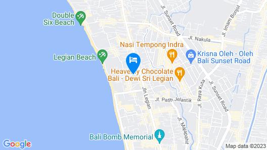 The Lokha Legian Resort & Spa Map