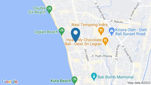 Legian Village Beach Resort Map
