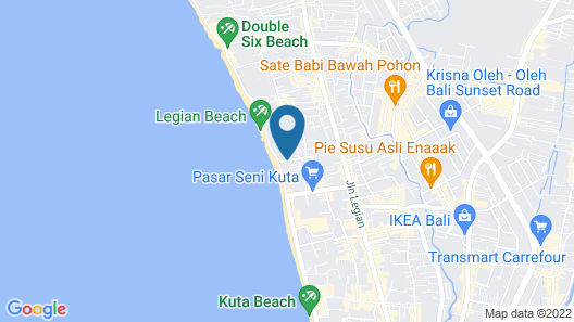 Bali Mandira Beach Resort & Spa Map