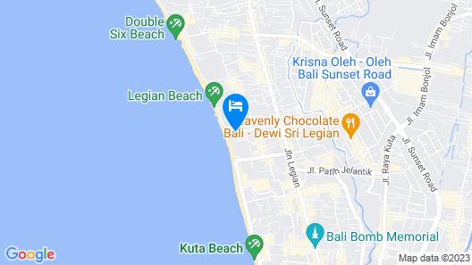 Bali Mandira Beach Resort & Spa Map