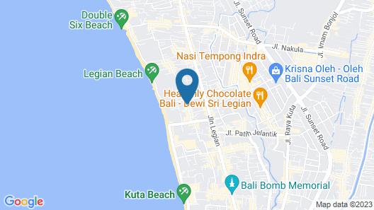 Losari Hotel & Villas Kuta Bali Map