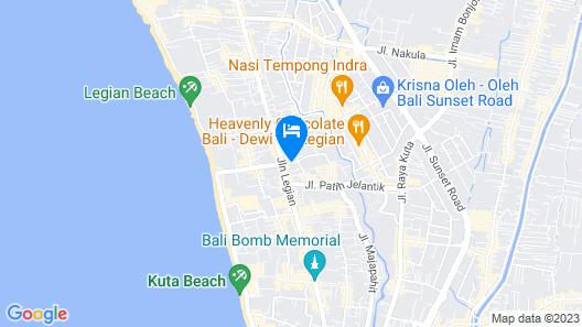 Sol House Bali Legian Map