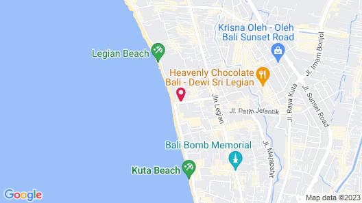Legian Beach Hotel Map