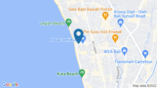 Legian Beach Hotel Map