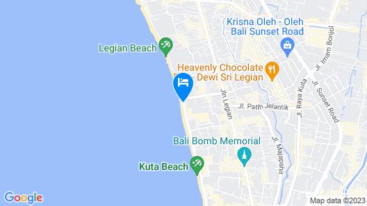 Pullman Bali Legian Beach Map