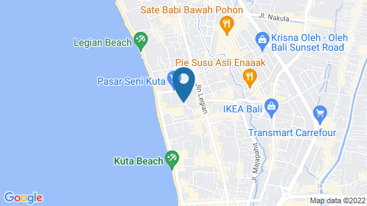 Champlung Mas Hotel Legian Map