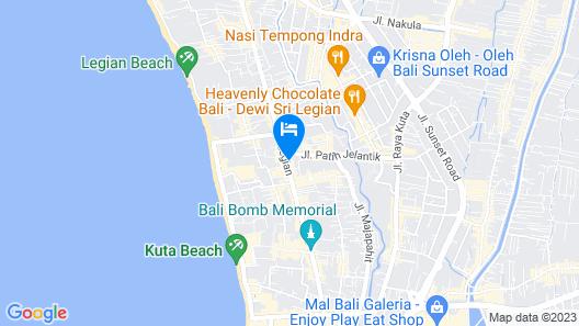 Legian Paradiso Hotel Map