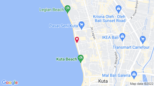 Citadines Kuta Beach Bali Map