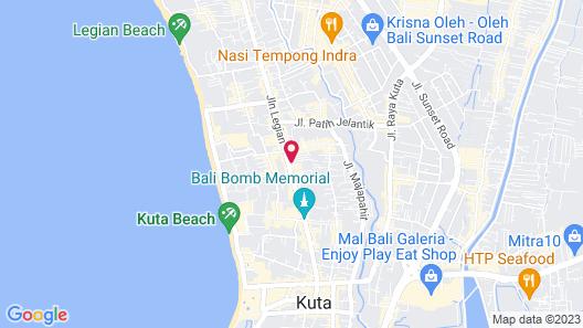 Sun Island Hotel & Spa Legian Map