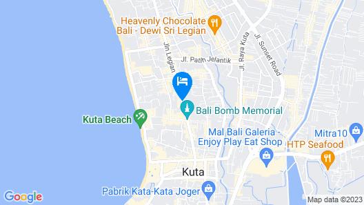 Matahari Bungalow Map