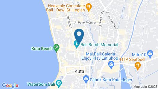 White Rose Kuta Resort, Villas & Spa Map