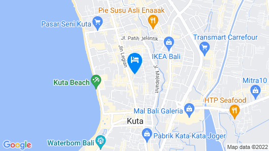 White Rose Kuta Resort, Villas & Spa Map