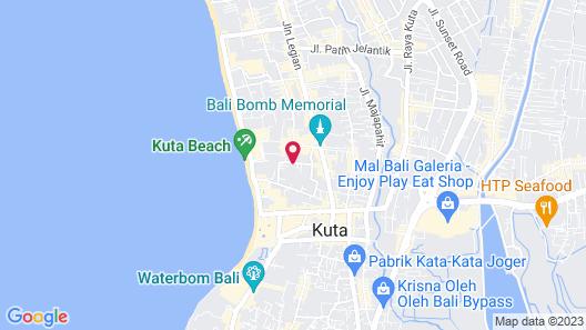 Jukung Villas Kuta Map