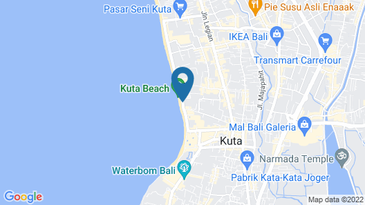Kuta Seaview Boutique Resort Map