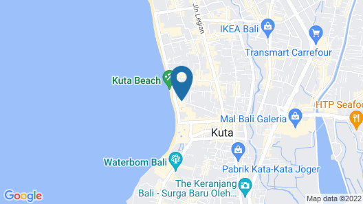 Kuta Puri Bungalows and Spa Map