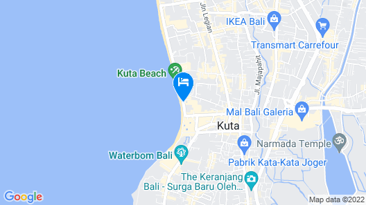 The Kuta Beach Heritage Hotel Bali - Managed By AccorHotels Map