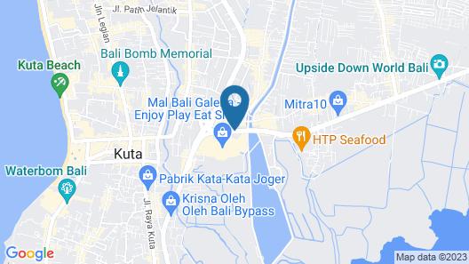 Grand Mega Resort & Spa Bali Map