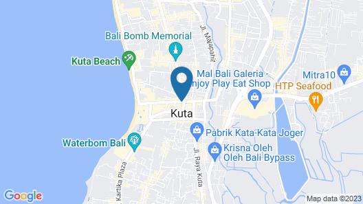 Grand Inna Kuta Map
