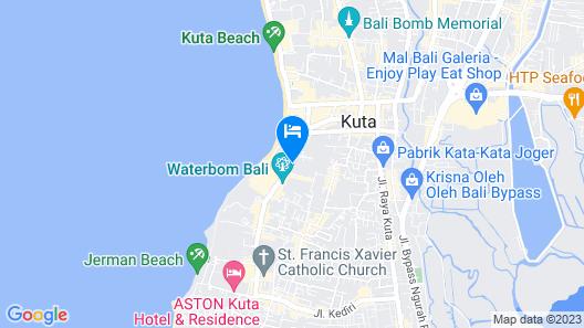 Melasti Kuta Bungalows & Spa Map