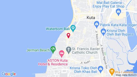 Bali Garden Beach Resort Map