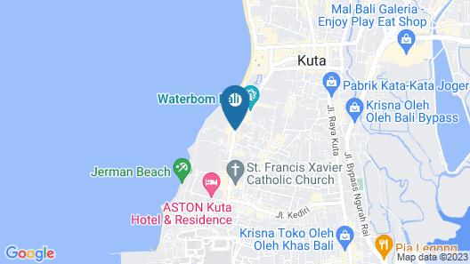 Kuta Paradiso Hotel Map