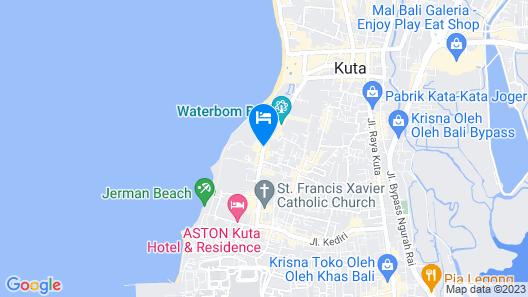 Adhi Jaya Hotel Map