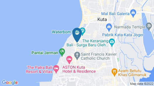 Bali Rani Hotel Map