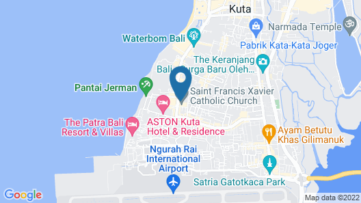 The Vira Bali Boutique Hotel & Suite Map