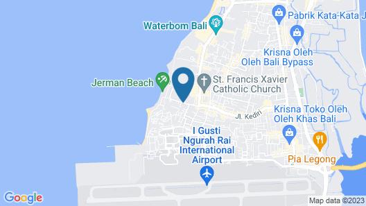 Palm Beach Hotel Bali Map
