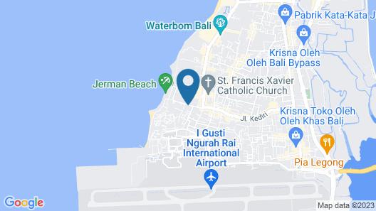 Aston Kuta Hotel and Residence Map