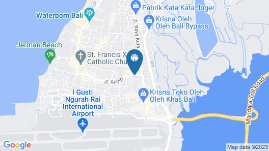 Permata Kuta Hotel Map