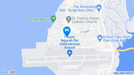 HARRIS Hotel Tuban - Bali  Map