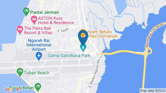 Best Western Kuta Villa Map