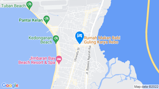 Watermark Hotel & Spa Jimbaran Bali Map