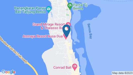SADARA Boutique Beach Resort Bali Map