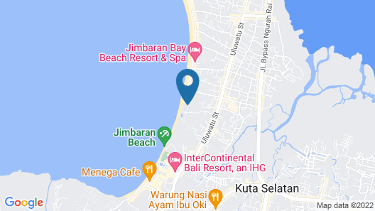 Keraton Jimbaran Beach Resort Map