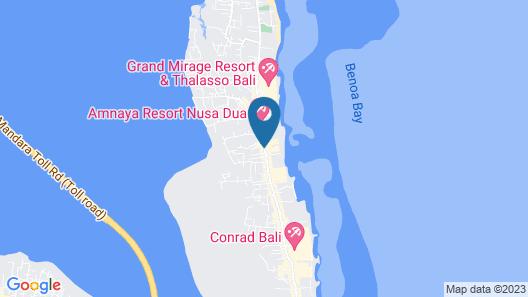 Hotel Nikko Bali Benoa Beach Map