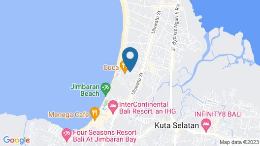 Fox Jimbaran Beach Bali Map
