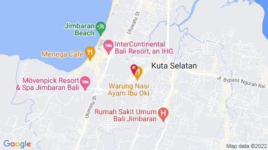 Aahh Bali Bed and Breakfast Map
