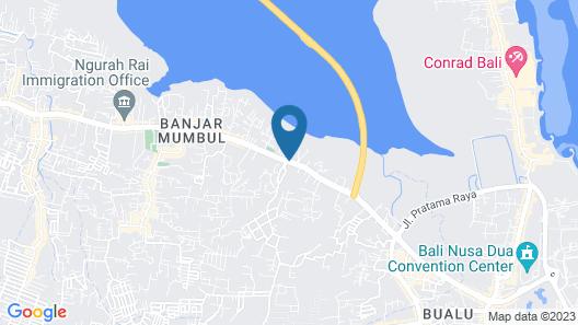 The Crystal Luxury Bay Resort Nusa Dua Map