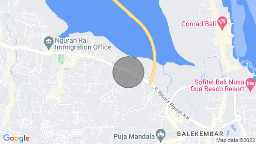 Crystaloka, 10 Bedroom Villa, Nusa Dua Map