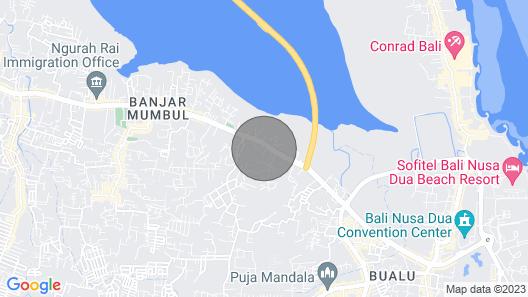Crystaloka, 4 Bedroom Villa, Nusa Dua Map