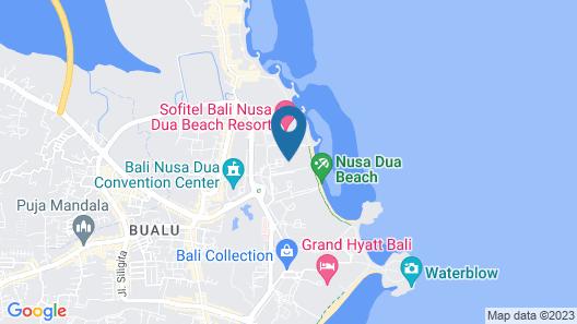 Nusa Dua Beach Hotel & Spa Map