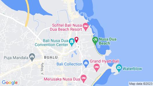 Bali Nusa Dua Hotel Map
