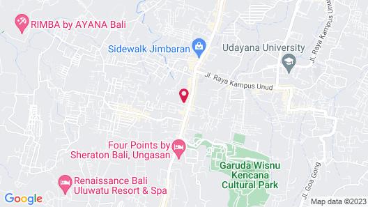 Poedja Villa Jimbaran Map