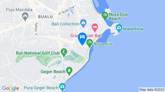Merusaka Nusa Dua Map